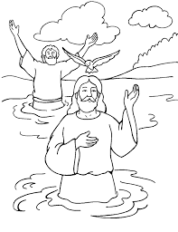 Baptism Of Jesus Color Page Matthew 313 17 Coloring Home