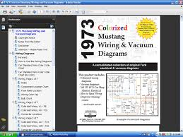 fordmanuals com 1973 colorized mustang wiring diagrams ebook screenshot 1973 color mustang wiring diagrams