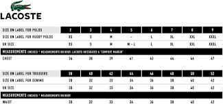 Lacoste Classic Size Chart Bedowntowndaytona Com
