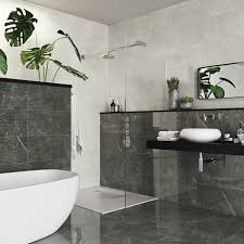 anubise grey marble effect tiles