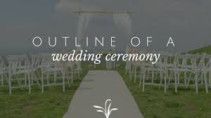 Outline Of A Wedding Ceremony Weddings By Cantor Erik Contzius
