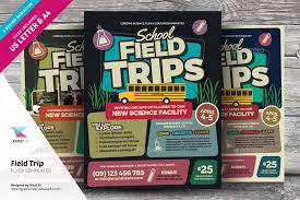 Field Trip Brochure Template Education Related Flyer Template ...