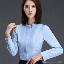 Female Office Shirt Designs 2019 2017 Fashion Ladies Office Shirts New Arrival Autumn Women Ol Shirt Work Wear Korean Elegant Woman Blouse And Tops From Donnatang240965 9 94