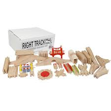 right track toys master builder wooden train set