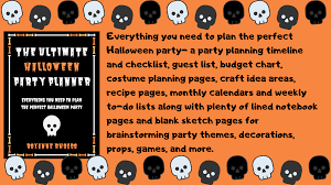 Party Planning Lists Bewitching Book Tours The Ultimate Halloween Party Planner