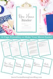 Free Printable Binder Templates New Home Binder Free Printables Sweet Tea Ministry