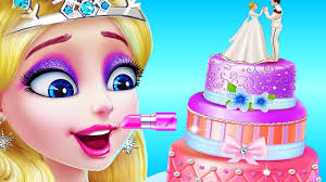 ice princess makeup makeover learn cake design color decorate games ice princess wedding day