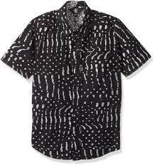 Volcom Big Boy Size Chart Volcom Big Boys Drag Dot Short Sleeve All Over Print Button