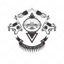 тату студия логотип эмблема векторное изображение Systemm
