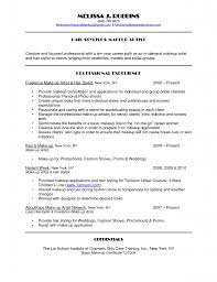 Makeup Artist Of Focused Professional With Resume Objective Example