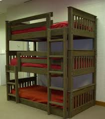 Straight Mission Style Triple Bunk Bed - CC Walnut Stain View product  details and pricing here:.