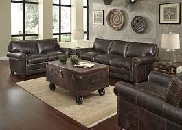 Chocolate Brown Furniture Decorating Ideas Leather Couch Blue