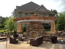 outdoor fireplace kits stone