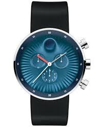 movado men s swiss chronograph edge black silicone strap watch movado men s swiss chronograph edge black silicone strap watch 42mm 3680019