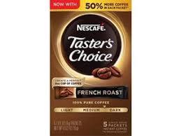 Nescafe taster's choice french roast is our darkest roast yet made from 100% pure responsibly sourced coffee beans. Nescafe Taster S Choice French Roast Medium Dark Roast Instant Coffee 7 Oz Jar Newegg Com