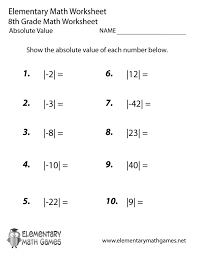 absolute value math worksheets ged math practice worksheets test free pages questions print out