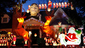 Christmas Lighted Soldiers Big Tex And An Army Of Vintage Santas Spread Christmas Cheer