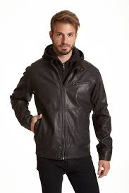 men s midweight faux leather jacket zoom