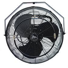 outdoor wall mount fans.  Fans Mist Works 18Inch Outdoor Wall Mount Fan With Misting Ring  Black For Fans A