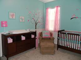 nursery with white furniture. baby girlu0027s aquapink nursery love the wall color and curtains but would have white furniture with r