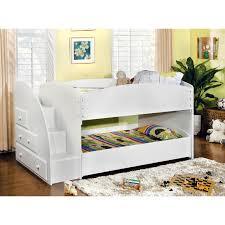 furniture of america ridge adjule twin over twin bunk bed with drawers hayneedle