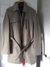 hugo boss mens cream trench coat medium new with tags excellent condition 1 of 3 see more
