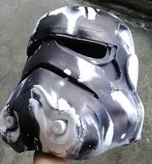 picture of starwars stormtrooper helmet using eva foam
