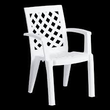 plastic garden chair erguvan white