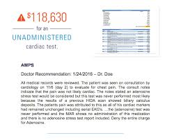 Sample Of Medical Records Medical Bill Review Sample Report Amps Advanced Medical