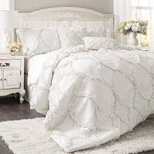 lush decor avon 3 piece white queen comforter set