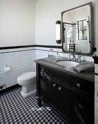 vallone design elegant office. Exellent Office Black And White Updated Retro Bathroom By Vallone Design In Elegant Office