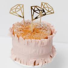 Diamond Cake Toppers Modern Party Cake Supplies Diy Wedding Uk