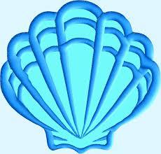 Shell Designs Blue Fish Peeker Applique Design With Sea Shell 2 Designs 3