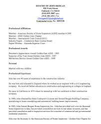 home inspector resume examples resumes design home design