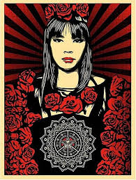 Shepard fairey rose girl