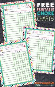 Free Printable Chore Charts Mommy Ideas Pinterest