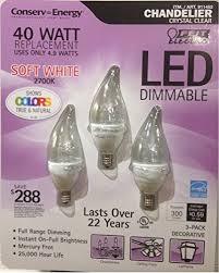 feit led 4 9 watt led candelabra light bulbs 3 pack 911482