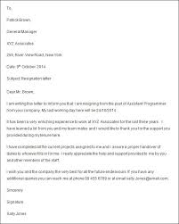formal resignation letter with 2 weeks notice resignations letters samples