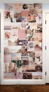 peachy pink collage kit wall collage