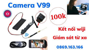 Camera ngụy trang mini V99 siêu nhỏ - Kết nối wifi giám sát từ xa Full HD -  YouTube