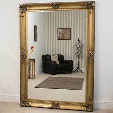extra large wall mirror gold decorative