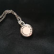 marc jacobs enamel disc pendant