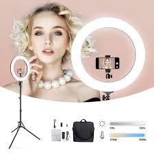 Ring Light Photography Amazon 19in Amzdeal 85w Dimmable Ring Light With Stand 2700k To 5500 K Led Light Kit Photography Photo Studio Light For Makeup Video Picture Shooting