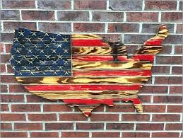 rustic american flag wall art wood rustic wood flag wall art