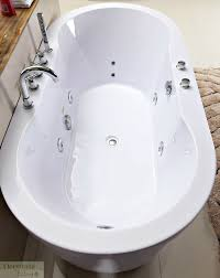 Bathtub Freestanding Whirlpool Jetted Hydrotherapy Massage 67 L
