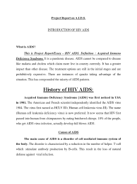 project report on aids hiv aids virus