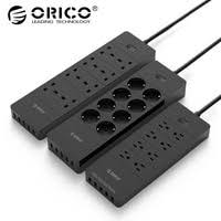 orico power strip eu plug 4 6 8 outlet surge protector with 5x2 4a usb super charger ports white hpc v1