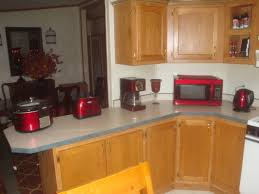 Kitchen With Red Appliances Kitchen Countertop Decorating Ideas Shelf Decorating Ideas