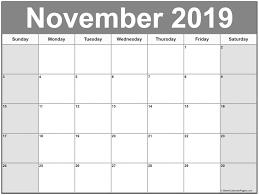 Printable November 2019 Blank Calendar With To Do List