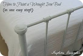 painting iron bed frame painting ikea metal bed frame